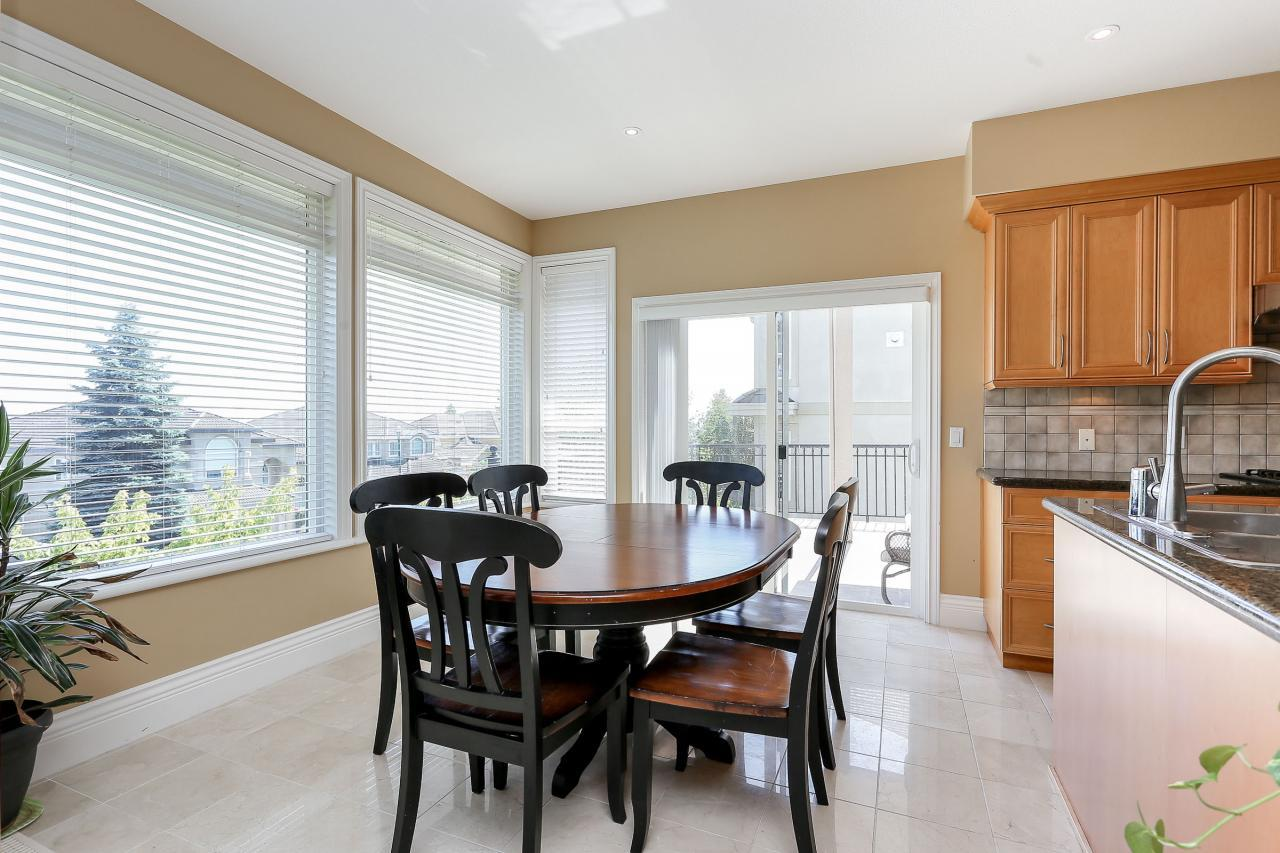 Eating area at 1709 Augusta Place, Westwood Plateau, Coquitlam