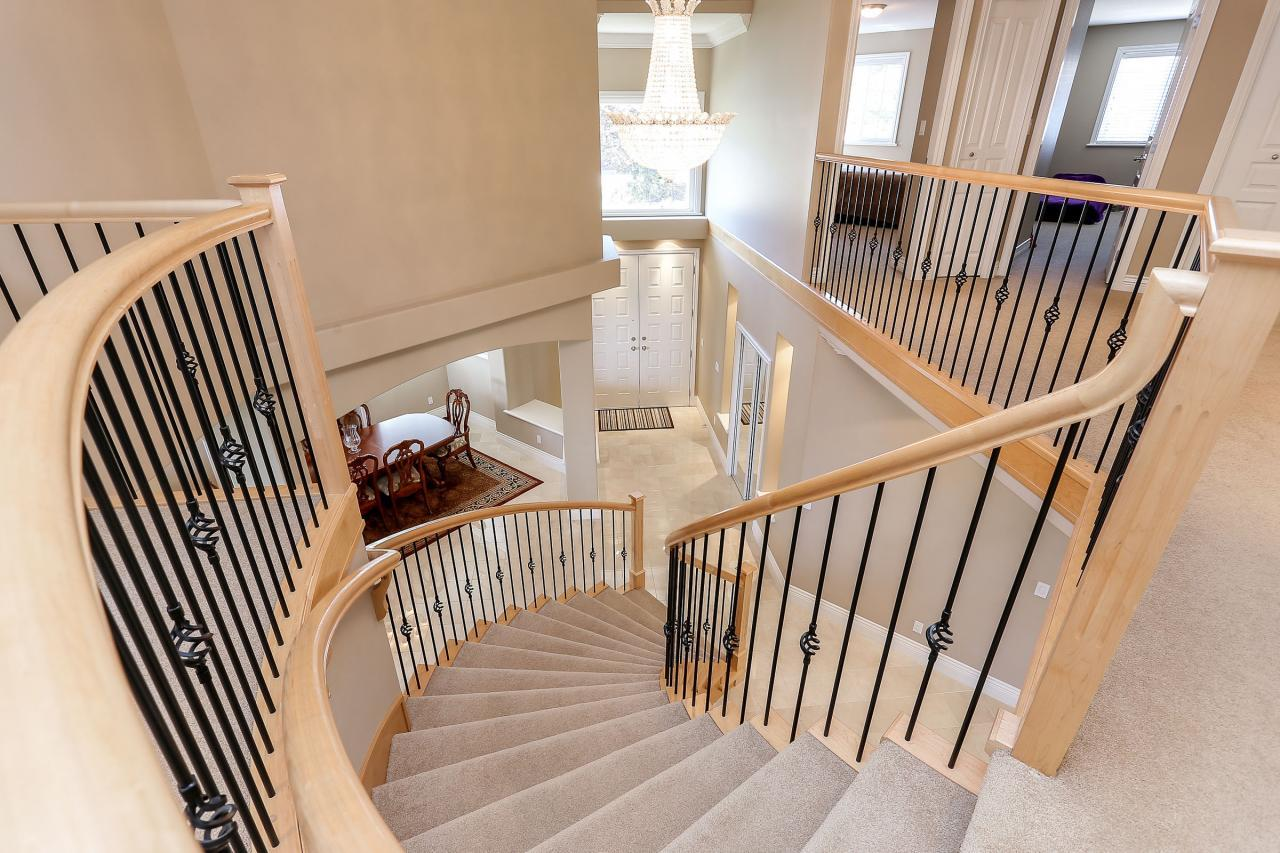 Looking down to foyer from the upper floor. at 1709 Augusta Place, Westwood Plateau, Coquitlam