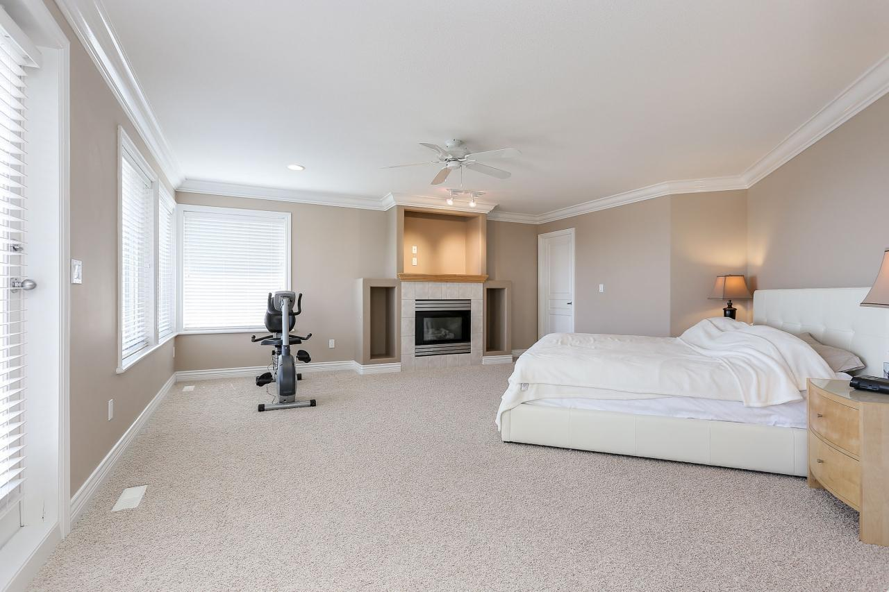 Master Bedroom with gas fireplace. at 1709 Augusta Place, Westwood Plateau, Coquitlam
