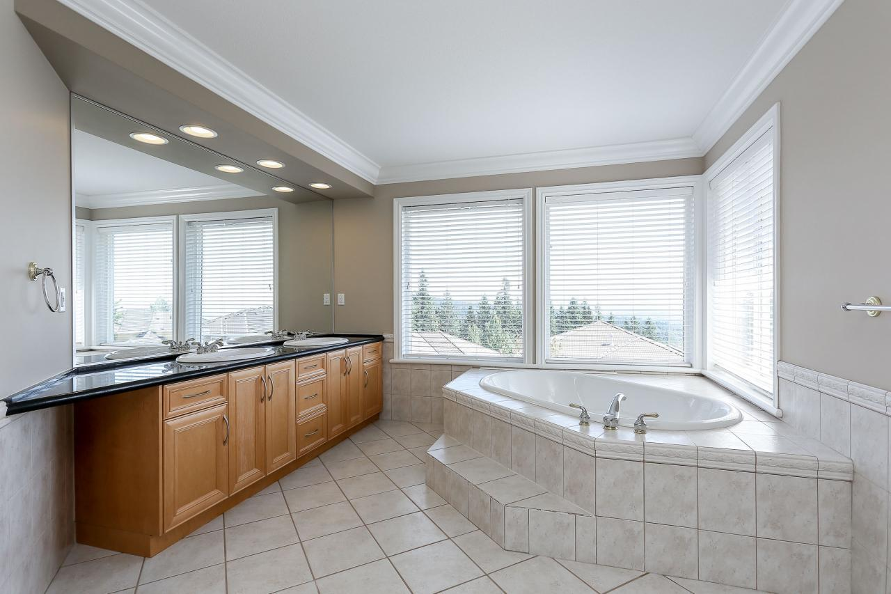 Master ensuite with jetted tub and gorgeous views. at 1709 Augusta Place, Westwood Plateau, Coquitlam
