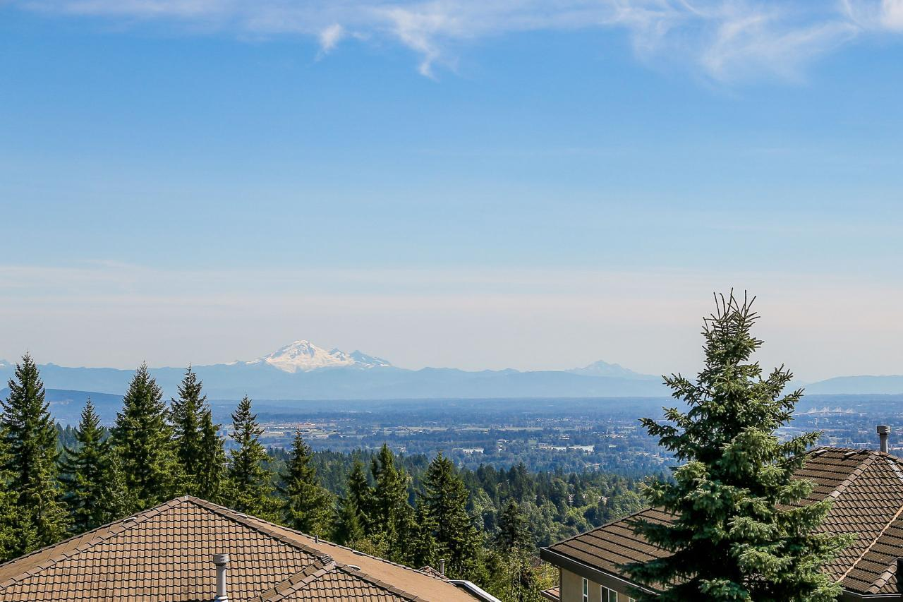 Panoramic view of Mt  Baker from private deck off master bedroom. at 1709 Augusta Place, Westwood Plateau, Coquitlam