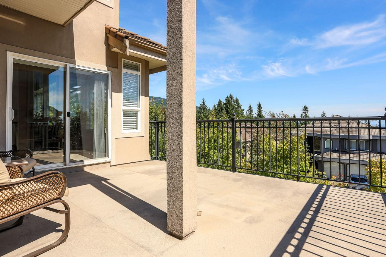 Main floor deck with access to  living room and eating area. It has a natural gas BBQ hook-up and offers beautiful views of Mt Baker. at 1709 Augusta Place, Westwood Plateau, Coquitlam