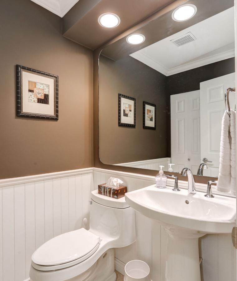Renovated Powder Room at 9 - 101 Parkside Drive, Heritage Mountain, Port Moody