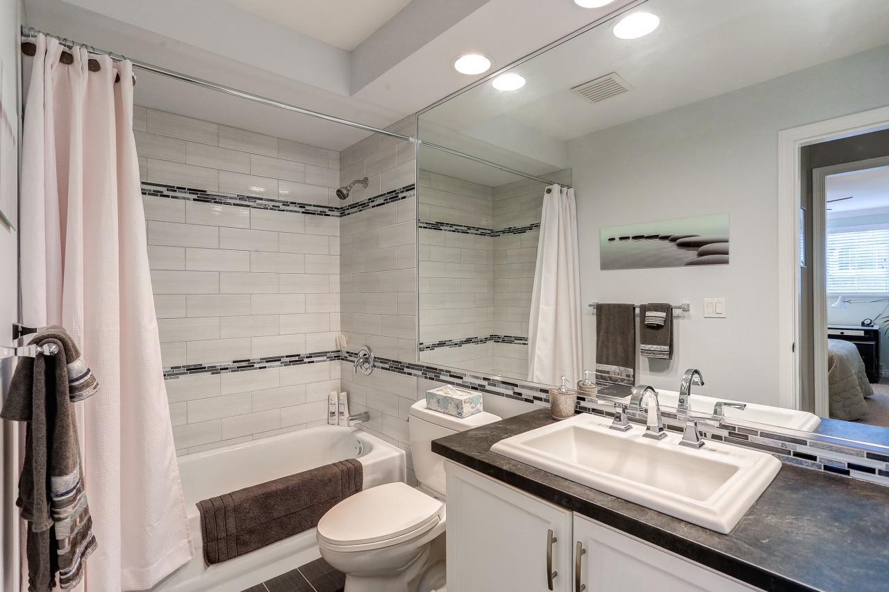 Renovated Main Bath at 9 - 101 Parkside Drive, Heritage Mountain, Port Moody