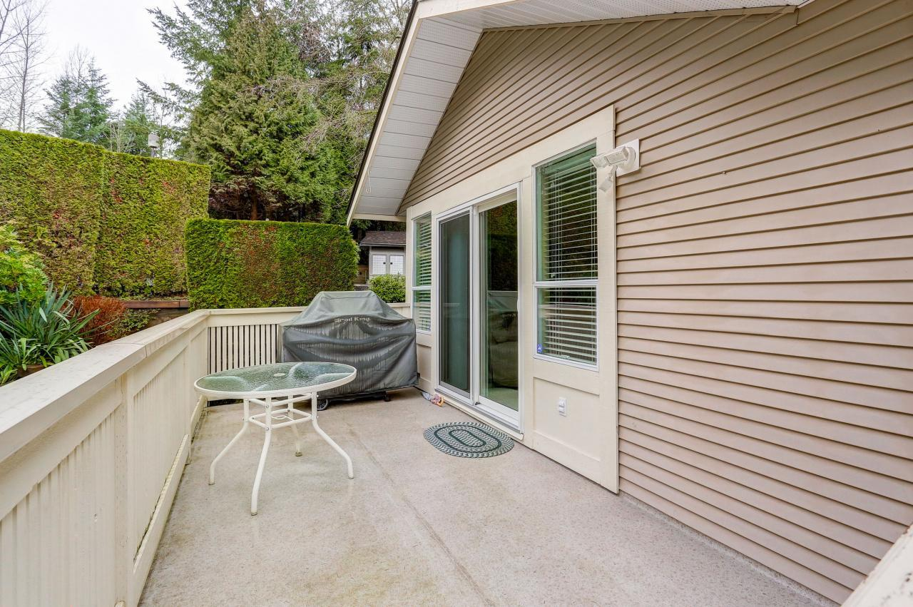 Deck at 9 - 101 Parkside Drive, Heritage Mountain, Port Moody