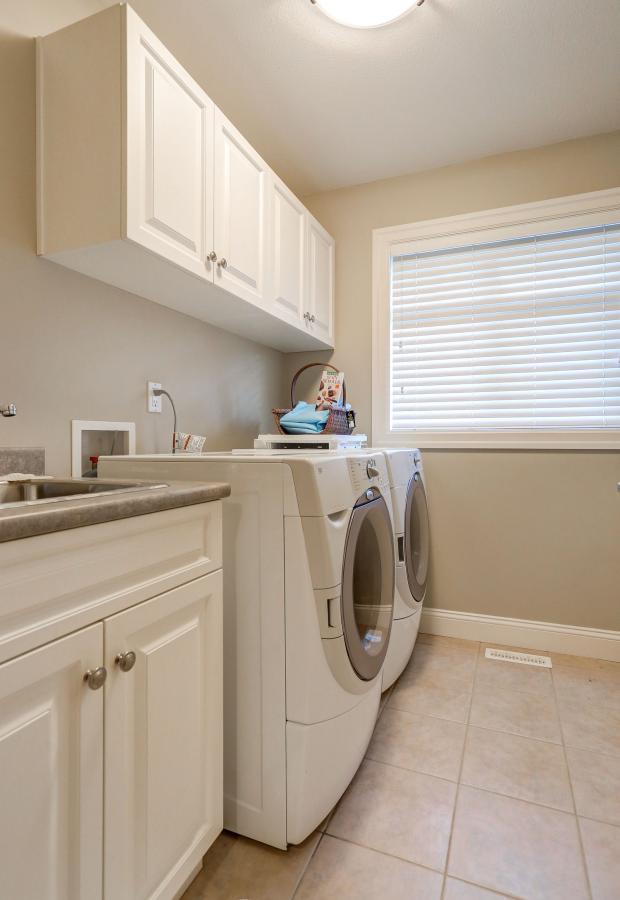 Laundry Upstairs at 3301 Mctavish Court, Hockaday, Coquitlam