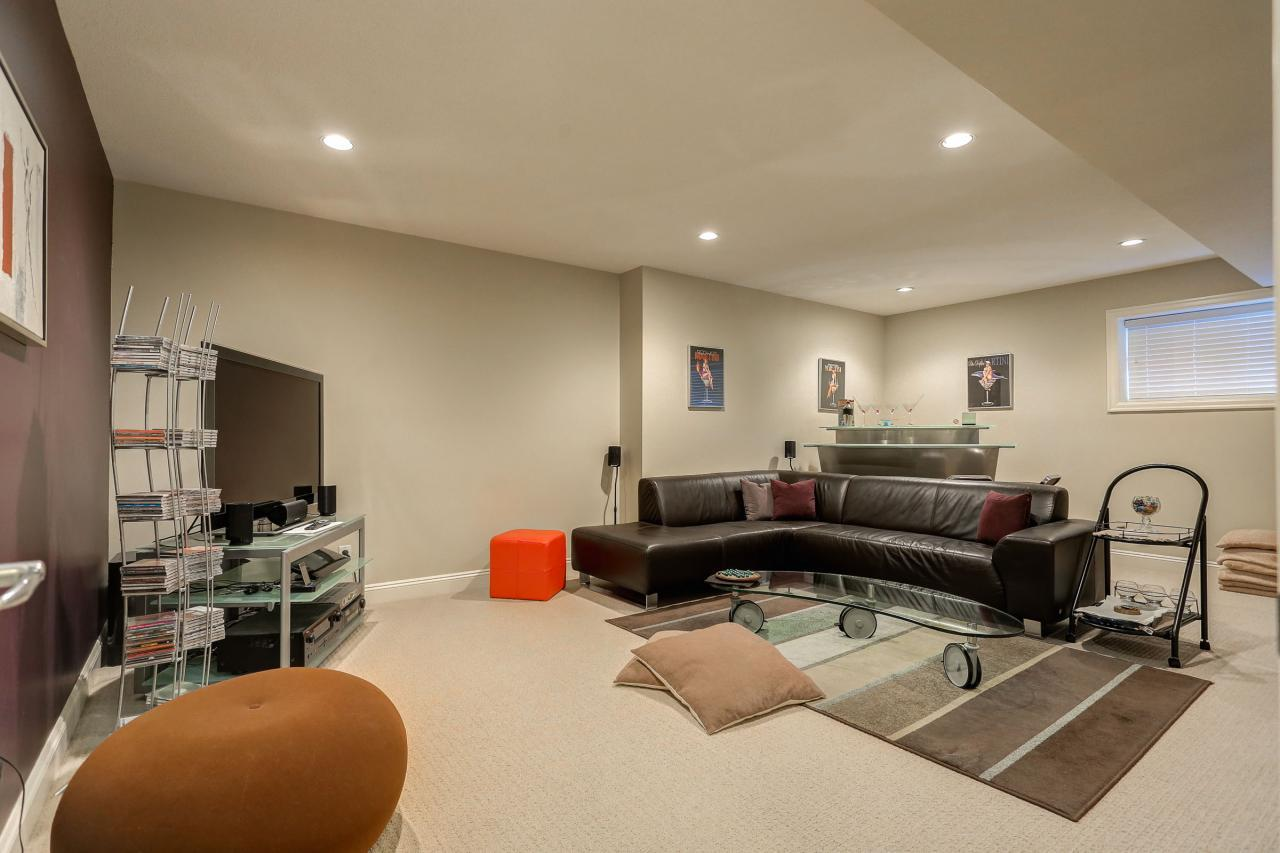 Rec Room with roughed-in plumbing for suite potential. at 3301 Mctavish Court, Hockaday, Coquitlam