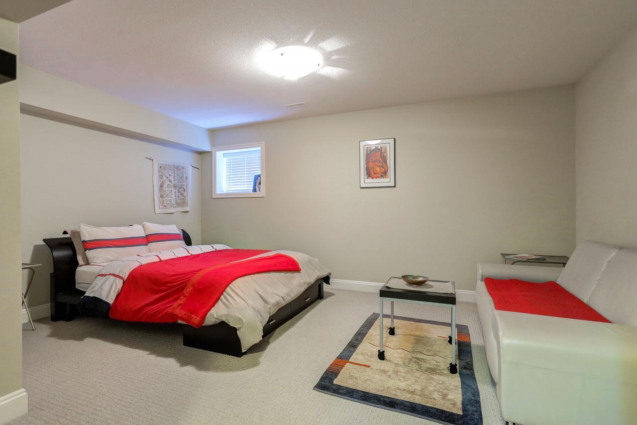 Basement Bedroom  at 3301 Mctavish Court, Hockaday, Coquitlam