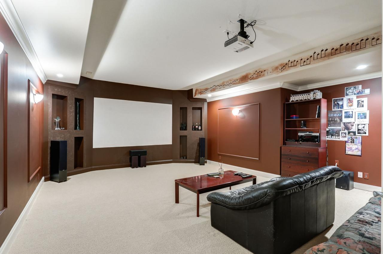 Media Room at 1053 Ravenswood Drive, Anmore, Port Moody
