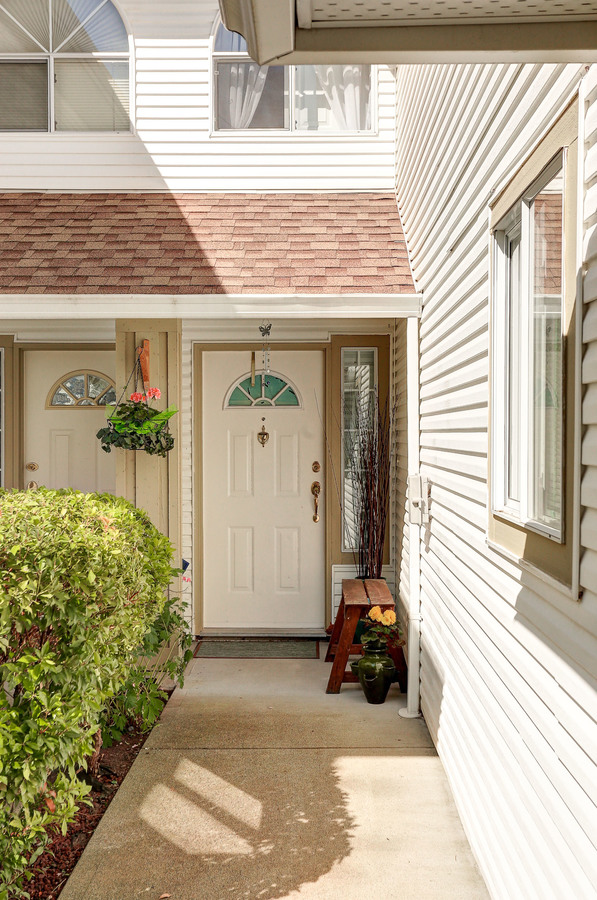 Front Entrance at 102 - 3265 Sefton Street, Glenwood PQ, Port Coquitlam
