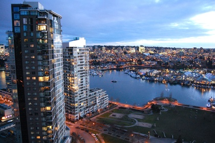 Evening Views at 2905 - 1495 Richards Street , Yaletown, Vancouver West