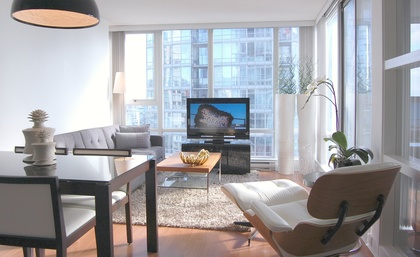 Living and Dining  at 2905 - 1495 Richards Street , Yaletown, Vancouver West