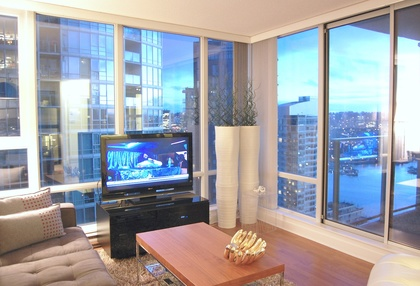 Living Room  at 2905 - 1495 Richards Street , Yaletown, Vancouver West