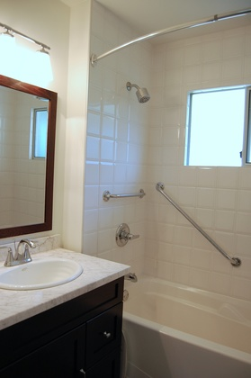 Refurbished Bathroom at 979 Devon Road, Forest Hills NV, North Vancouver
