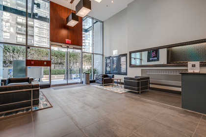 Lobby with concierge service at 1003 - 1325 Rolston Street, Downtown VW, Vancouver West