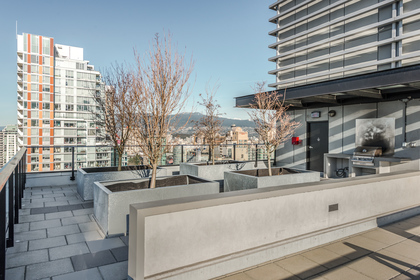 Rooftop amenity space  at 1003 - 1325 Rolston Street, Downtown VW, Vancouver West