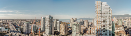 Rooftop south views at 1003 - 1325 Rolston Street, Downtown VW, Vancouver West