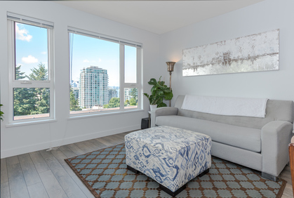 Living Room at 401 - 221 East 3rd Street, Lower Lonsdale, North Vancouver