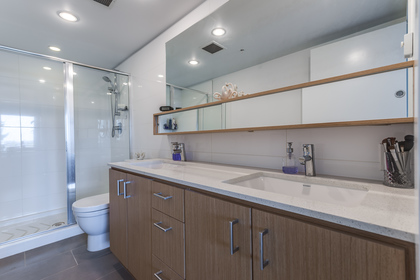 Master Bathroom at 401 - 221 East 3rd Street, Lower Lonsdale, North Vancouver
