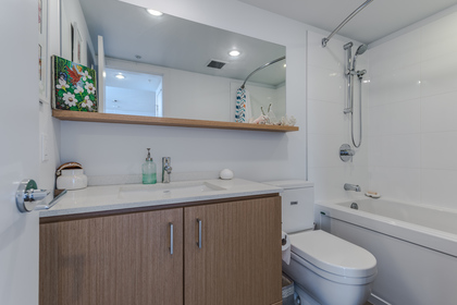 2nd Bathroom at 401 - 221 East 3rd Street, Lower Lonsdale, North Vancouver