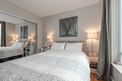 Bedroom at 806 - 550 Pacific Street, Yaletown, Vancouver West
