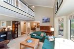 Main living room with loft at 20885 Meadow Place, Northwest Maple Ridge, Maple Ridge