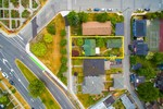 309 West Keith aerial lot outline at 309 West Keith, Lower Lonsdale, North Vancouver