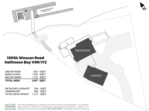 10054 Wescan Road - SITE PLAN at 10054 Wescan Road, Halfmn Bay Secret Cv Redroofs, Sunshine Coast