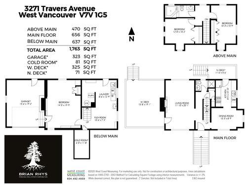 3271Travers Avenue, West Vancouver - Floorplan at 3271 Travers Avenue, West Bay, West Vancouver