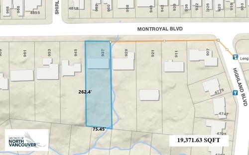 937 Montroyal Blvd., North Vancouver - DNV LOT PLAN at 937 Montroyal Blvd. , Canyon Heights NV, North Vancouver