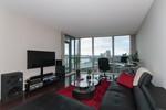 Living room at 1010 - 14 Begbie Street, Quay, New Westminster