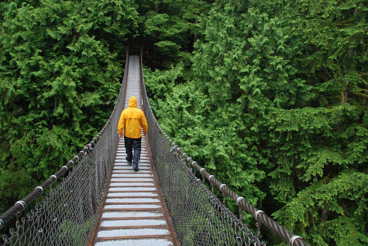 ... Lynn Canyon Park Suspension Bridge at 4531 Ramsay Road Lynn Valley North Vancouver & 4531 Ramsay Road Lynn Valley North Vancouver (R2070025)