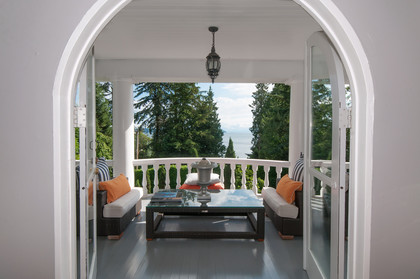 deck from living room at 2967 Marine Drive, Altamont, West Vancouver