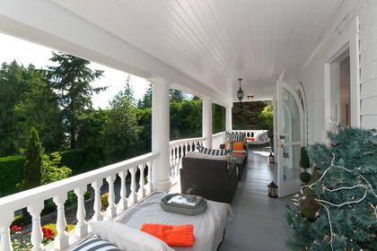 front deck at 2967 Marine Drive, Altamont, West Vancouver