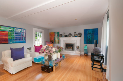 family room at 2967 Marine Drive, Altamont, West Vancouver