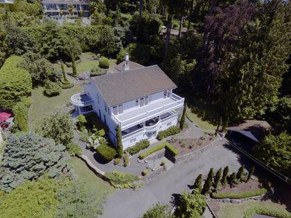 drone shot  at 2967 Marine Drive, Altamont, West Vancouver