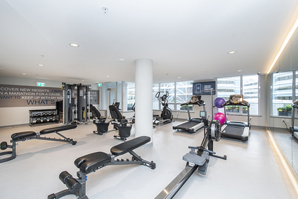 gym at 1406 - 118 Carrie Cates , Lower Lonsdale, North Vancouver