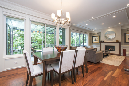 eating area at 1250 Sinclair Street, Ambleside, West Vancouver