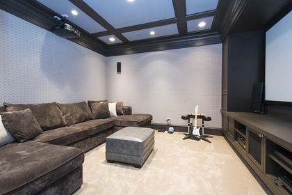 media room at 1250 Sinclair Street, Ambleside, West Vancouver