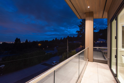 master bedroom deck at 557 -  St. Giles Road, Glenmore, West Vancouver