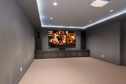 media room at 557 -  St. Giles Road, Glenmore, West Vancouver