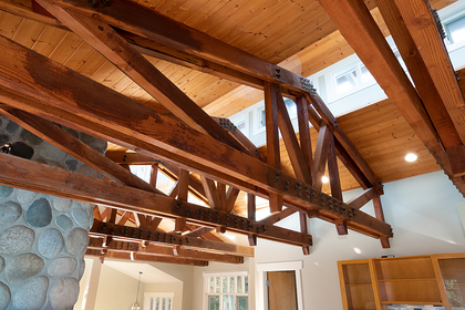 wood beams at 2475 Palmerston Avenue, Dundarave, West Vancouver