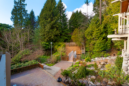 rear of property with footbridge at 2475 Palmerston Avenue, Dundarave, West Vancouver