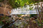 footbridge over creek at 2475 Palmerston Avenue, Dundarave, West Vancouver