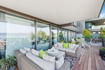 bellevue-patio-10 at 203 - 1327 Bellevue Avenue, Ambleside, West Vancouver