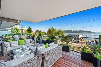 bellevue-patio-12 at 203 - 1327 Bellevue Avenue, Ambleside, West Vancouver