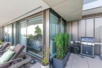 bellevue-patio-3 at 203 - 1327 Bellevue Avenue, Ambleside, West Vancouver