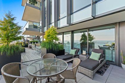 bellevue-patio-4 at 203 - 1327 Bellevue Avenue, Ambleside, West Vancouver
