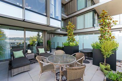 bellevue-patio-5 at 203 - 1327 Bellevue Avenue, Ambleside, West Vancouver
