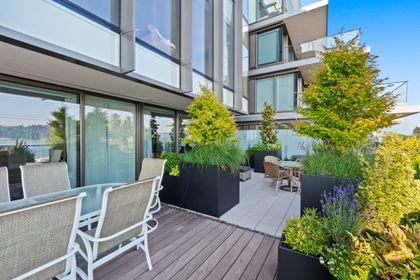 bellevue-patio-7 at 203 - 1327 Bellevue Avenue, Ambleside, West Vancouver